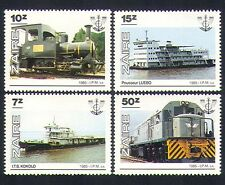Zaire 1985 Ships/Trains/Steam Engine/Boats/Rail/Railways/Transport 4v set b9233