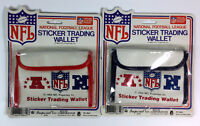 (2) Vintage NFL Sticker Trading Wallet 1983 NFL Properties NFC AFC Football