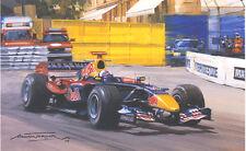 Formula 1 One F1 Motor Racing Car David Coulthard Red Bull Blank Birthday Card