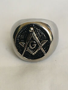 MASONIC FREEMASON RING 316L STAINLESS STEEL - ROUND