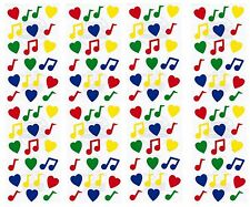 Frances Meyer Colorful MUSIC NOTES & Hearts Scrapbook Stickers 8 Sheets!
