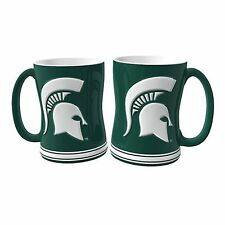 NCAA Michigan State Spartans 15oz. Ceramic Relief Mug