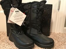 Women's Totes Waterproof Winter Snow Boots Size 7 Janis Black