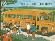 Old Print. 1956 Blue Bird - Yellow School Bus