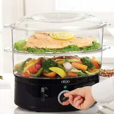 Bella Two Tier Food Steamer Healthy Fast Simultaneous Cooking Stackable Baskets