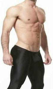 Bilelika 506-15 Black Spandex Men Leggings Pants Low Waist Size M