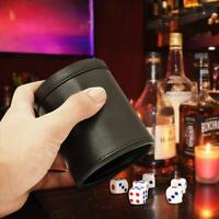 Hand Shaking Leather Dice Cup KTV Party Game Entertainment Dice Cup Black