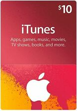 Apple iTunes Gifts Card of $10 USD Code - US Account Only - Top Rated Seller