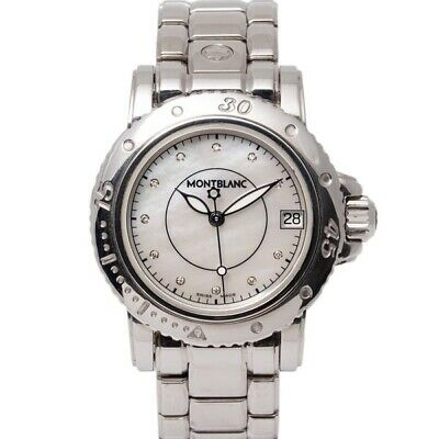 Montblanc 7036 Sports White Mop Dial Stainless Steel Ladies Watch 2008