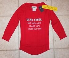NWT Abercrombie Girls Medium Size 12 Dear Santa Leave Your Credit Card Top