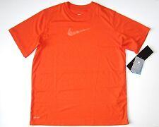 Nike Boy's Orange Size XL 18 20 T shirt Dry fit microfiber short sleeve Top new