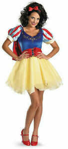 Snow White Sassy Deluxe Prestige Adult Disney Costume Disguise USA 50492 USA NEW