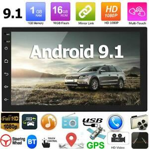 "Double 2DIN 7"" Android 9.1 Car Stereo GPS Navi WiFi Bluetooth FM Radio Head Unit"