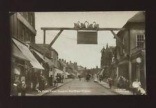 Herts Hertfordshire WALTHAM CROSS Four Swans street scene used c1920s? RP PPC