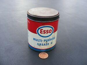 Vintage Esso Multipurpose Grease Tin 1lb. Oil Can Garage Motoring Automobile