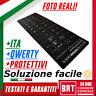 LETTERE PER PC NOTEBOOK TASTIERA QWERTY ITALIANA ADESIVI NERI BLACK STICKER ITA