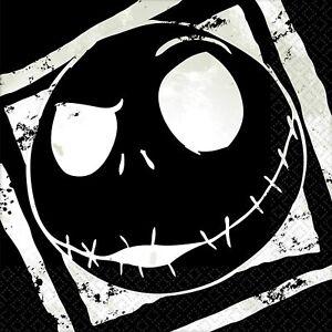 Nightmare Before Christmas NAPKINS CAKE ~16 PC ~ Halloween Party Decoration Jack