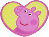 PEPPA PIG OFFICIAL OINK HEART SHAPED RUG MAT CARPET GIRL KIDS  CHARACTER BEDROOM