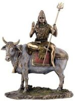 9.75 Inch Shiva on Nandi the Bull Statue Sculpture Figurine Eastern Deity Figure