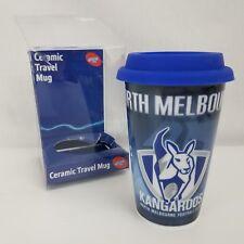 North Melbourne Kangaroos Afl Ceramic Travel Mug, New