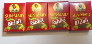 (4) Sun-Maid Natural Raisins -  Dried Fruit Snacks Healthy snacks for kids - 9oz
