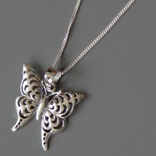 Lepos, Sterling Silver Butterfly Pendant Necklace