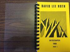 Vintage RARE David Lee Roth Skyscraper 1988 Part 1 Tour Itinerary