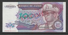 Zaire 1989 1000 Zaires  p35s Specimen CU