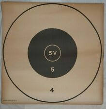 """61 Lot Vintage 1960's Large Paper Targets Army-A, 5V, Repair Center, Rifle """"A"""""""