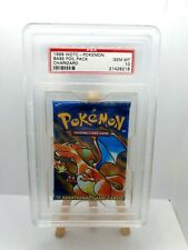PSA 10 GEM MINT 1999 WOTC Pokemon Base Set Foil BOOSTER PACK - Charizard Art