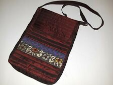 India Design Shoulder Bag Maroon Shoulder Strap Inside Pocket Zipper