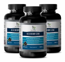 Skin care ACAI BERRY 1200 ENERGY & IMMUNE BOOSTER Vitamin A natural supply 3B
