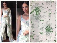 Deepika Padukone Bollywood Designer Ethnic Chiffon Saree Wedding Party Wear Sari