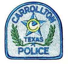 "CARROLLTON TEXAS TX Sheriff Police Patch CITY SEAL LOGO STAR WREATH 3.5"" ~"