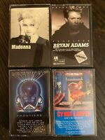 80s Cassette Tape Lot Madonna Bryan Adams Cyndi Lauper Journey Orig