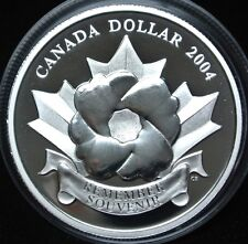 2004 CANADA  $1 DOLLAR .9999 FINE SILVER PROOF  - Special Edition THE POPPY
