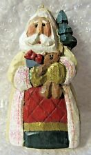 Eddie Walker Santa Holding Presents and Christmas Tree Ornament Signed