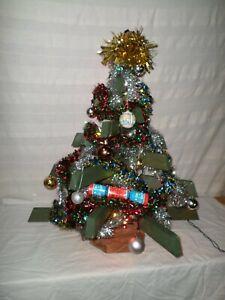 Hand Made Free Standing Graded Baton Wood Christmas Tree