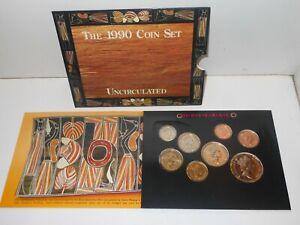 1990 Royal Australian Mint Coin Mint Set Uncirculated  Coin Set