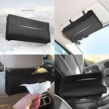 New Sun Visor Car Artificial Leather Napkin Paper Tissue Box Holder Accessories