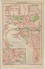 Melbourne historischer Stadtplan um das Jahr 1900