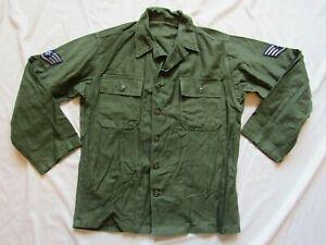 MINT Vtg 50s 1959 OG 107 Green Fatigue Shirt Utility First Model Type 1 USAF