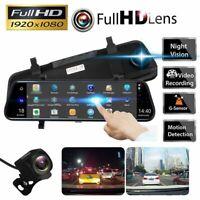 "10"" HD 1080P Car Rear View Mirror DVR Camera Dash Cam Recorder Rear View Monitor"