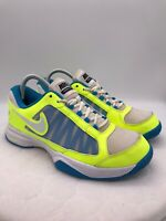 Nike Zoom Courtlite 3 Women's Size 8.5 Shoes Bright Neon Yellow Blue Running