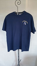 VINTAGE U.S. NAVAL T SHIRT-NAVY BLUE-SIZE XL MADE IN USA-TOP THREADS-BILL GOAT