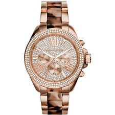 NEW MICHAEL KORS LADIES WREN TORTOISE ROSE GOLD WATCH - MK6159 - RRP £299