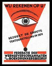 Netherlands Poster Stamps - 1934 Graphic Exposition - Single by Van den Dool
