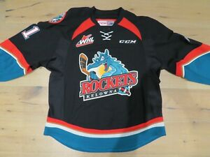 Kelowna Rockets Game Worn Used Jersey Black # 21 Devante Stephens Buffalo Sabres