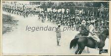 1935 Italio-Ethiopian War Ethiopian Troops Marching Formation Original Wirephoto