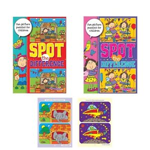 2 x Spot the Difference Children's Kids  Activity Books Book